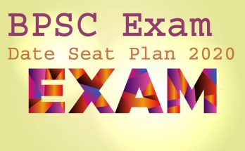BPSC Exam Date Seat Plan 2020