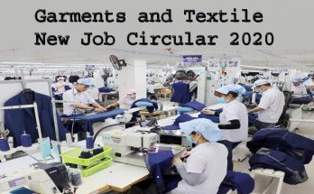 Garments and Textile New Job Circular 2020